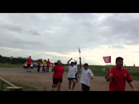 Sacred eagle staff run Alberta Indigenous Games 2013
