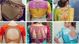 2020s  New Bridal Saree Blouse Back Designs // Latest Blouse Back Neck Designs Images