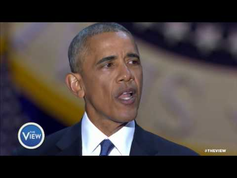 Pres. Obama Pays Tribute to First Lady in Farewell Speech | The View