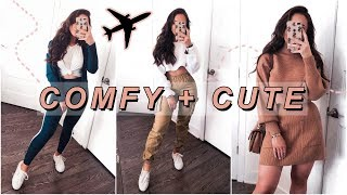 HOW TO LOOK CUTE WHILE BEING COMFY | AIRPORT OUTFITS
