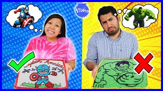 Avengers Superhero Cake DIY Challenge! Learn how to make Disney Cake Art!!!