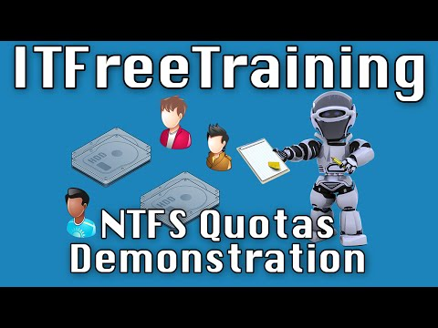NTFS Quotas Demonstration - YouTube