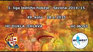 preview picture of video '49. kolo (28.1.2015) Dukla Jihlava - HC Most'