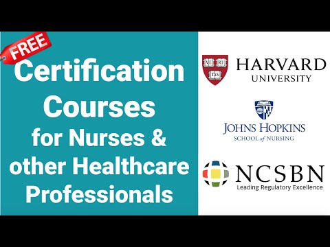 FREE Certification Courses for NURSES & other ... - YouTube