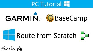 Garmin BaseCamp, How to create a route from scratch
