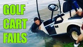 Golf Cart Fails | Golf Cart Crashes