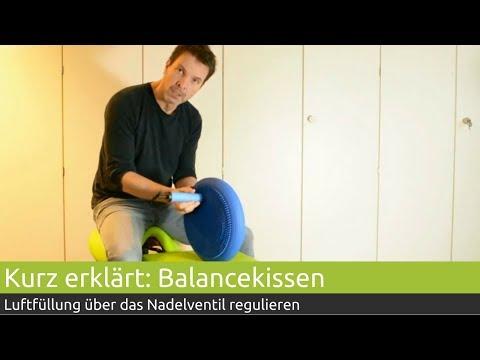Kurz erklärt: Balancekissen Luft regulieren | PINOFIT