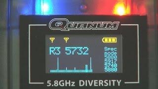 Quanum 5.8GHz FPV diversity receiver - on the bench