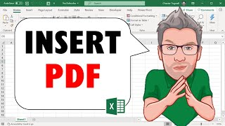 How to EMBED / INSERT / LINK a PDF File in an Excel Cell