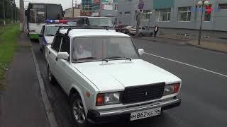 Курск. На Льговском повороте автобус с пассажирами наехал на «семёрку»