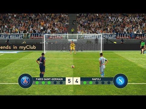 PSG vs NAPOLI | Penalty Shootout | PES 2019 Gameplay PC видео