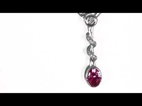 Christopher Michael Designed Pink Sapphire Pendant
