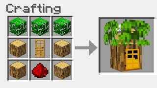 Minecraft BUT You Can Craft A SECRET HOUSE From ANY BLOCK!