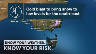 Severe Weather Update: cold snap to bring showers, hail, thunder, snow to SE Australia, 25 Sept 2020