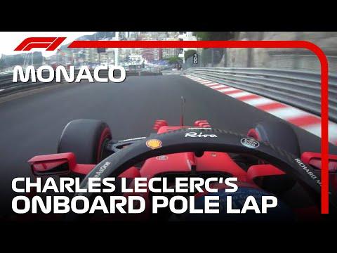フェラーリ ルクレールのポールポジションのオンボード映像 F1モナコGP 予選のハイライト動画