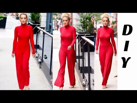 DIY// How To make A Turtleneck Jumpsuit// Long Sleeve Jumpsuit With Zipper