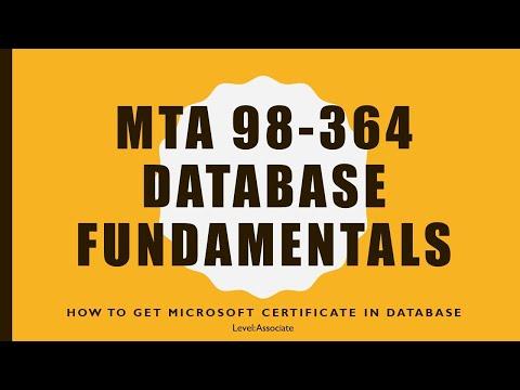 Microsoft Technology Associate (MTA) 98-364 - Database ...