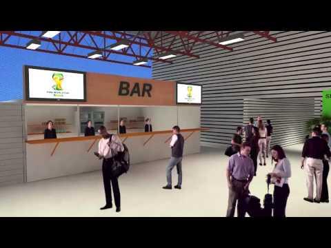 Arquibancadas móveis da Arena Corinthians