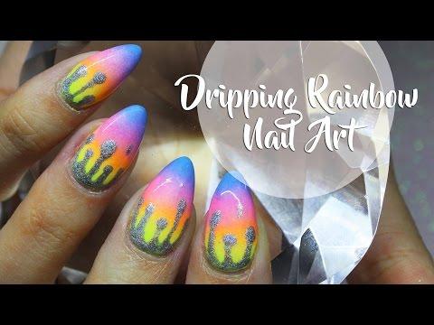 HOLOSEXUAL DRIPPING RAINBOWS NAIL ART ♥