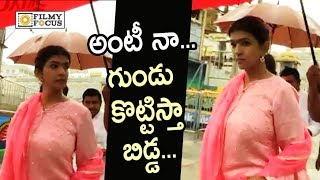 Manchu Lakshmi Angry on People Calling her Aunty at Tirumala - Filmyfocus.com