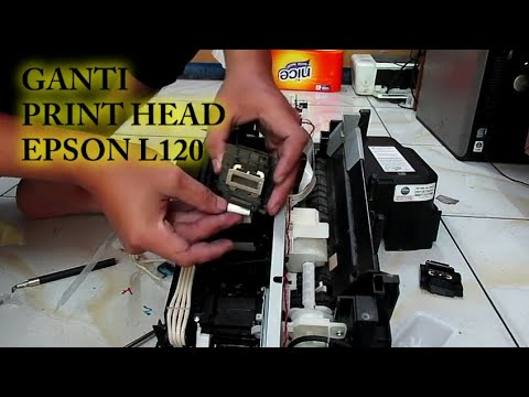 HOW TO REMOVE THE INK CARTRIDGE   Cleaning the printhead EPSON L120