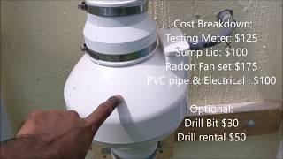 Radon Mitigation System for under $500 - DIY Homeowner Installation