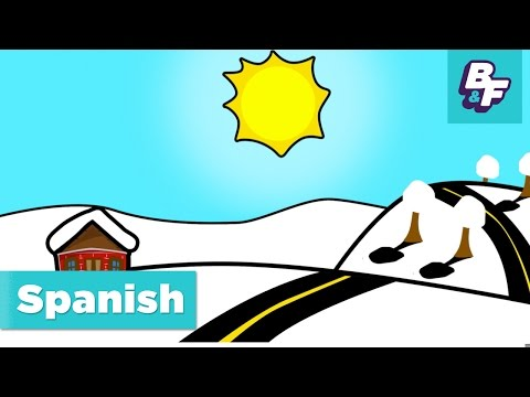 Learn Spanish seasons and weather with BASHO & FRIENDS