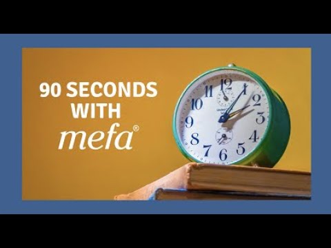 90 Seconds with MEFA: The Attainable Savings Plan