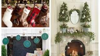 Winter Decorating Ideas – Christmas Mantel Ideas