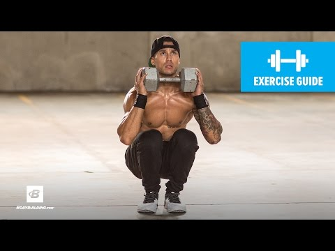 Close-Stance Dumbbell Front Squat