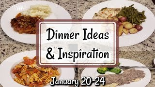 WHAT'S FOR DINNER? | JANUARY 20-24 | EASY MEAL IDEAS | MANDY IN THE MAKING