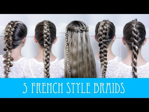 5 EASY FRENCH BRAIDS!