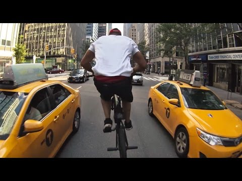 BMX Pro Rides Through NYC Scaring the Shit Out of People