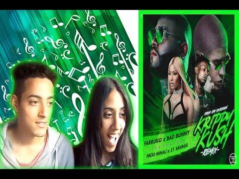 Farruko, Nicki Minaj, Bad Bunny - Krippy Kush (Remix) ft. 21 Savage, Rvssian - Reacción Reaction