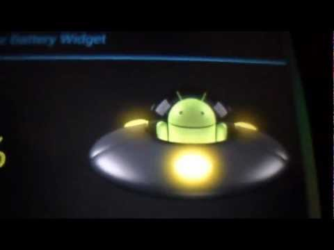 Video of UFO Droid Live Battery Widget
