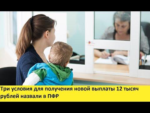 Три условия для получения новой выплаты 12 тысяч рублей назвали в ПФР