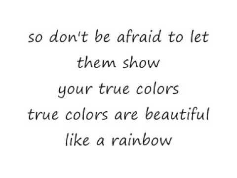 Cyndi Lauper True Colours Lyrics