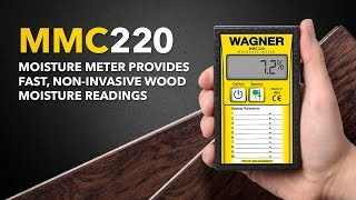 MMC220 Moisture Meter Provides Fast, Non-Invasive Wood Moisture Readings