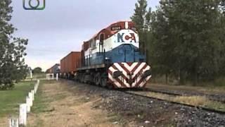 preview picture of video 'Tren cortito de NCA entrando a Oncativo'