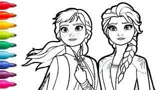 Холодное Сердце 2 | Как нарисовать Эльзу и Анну Frozen 2