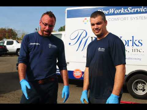 Jonny and Washington show you what a broken sewer line and talk about descaling the inside of the pipe.