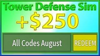 roblox tower defense simulator codes 2019 august - Thủ thuật máy