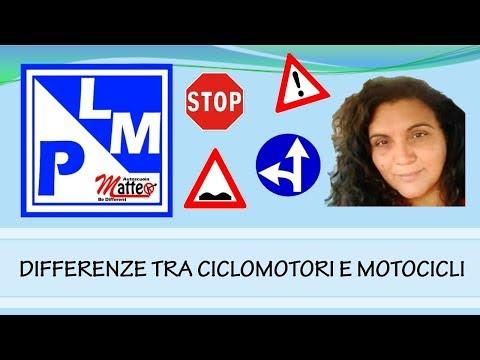 Differenze tra motocicli e cicliomotori