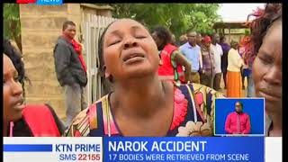 10 out of the 17 bodies retrieved from the Siyapei road accident in Narok have been identified