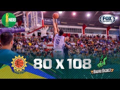 COM TRANQUILIDADE! Veja os melhores momentos de São José 80 x 108 Bauru pelo NBB