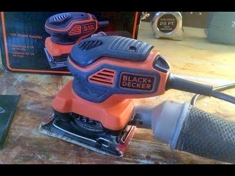Review: Black & Decker 1/4 Sheet  Palm Sander