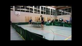 preview picture of video 'Tischtennis-Aufstiegsspiel: [ Erdweg gegen Starnberg ] Spiel 4'