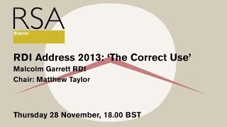 RSA Replay: RDI Address 2013: The Correct Use