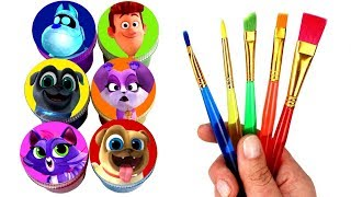 Drawing & Painting Puppy Dog Pals Fun Surprise Toys Bingo Rolly Hissy Bob ARF Rufus and Cupcake