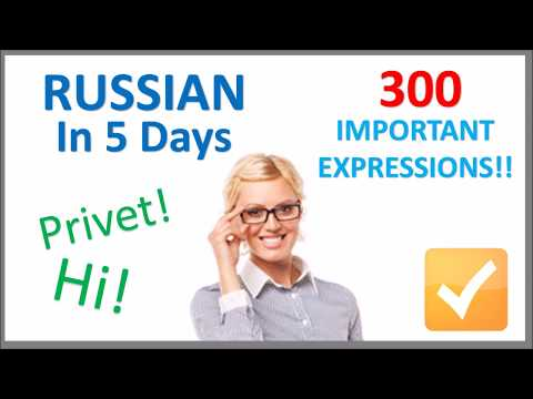 Learn Russian in 5 Days - Conversation for Beginners - YouTube